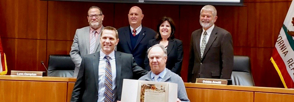 Jim Erb and Jim Hamilton with the Board of Supervisors