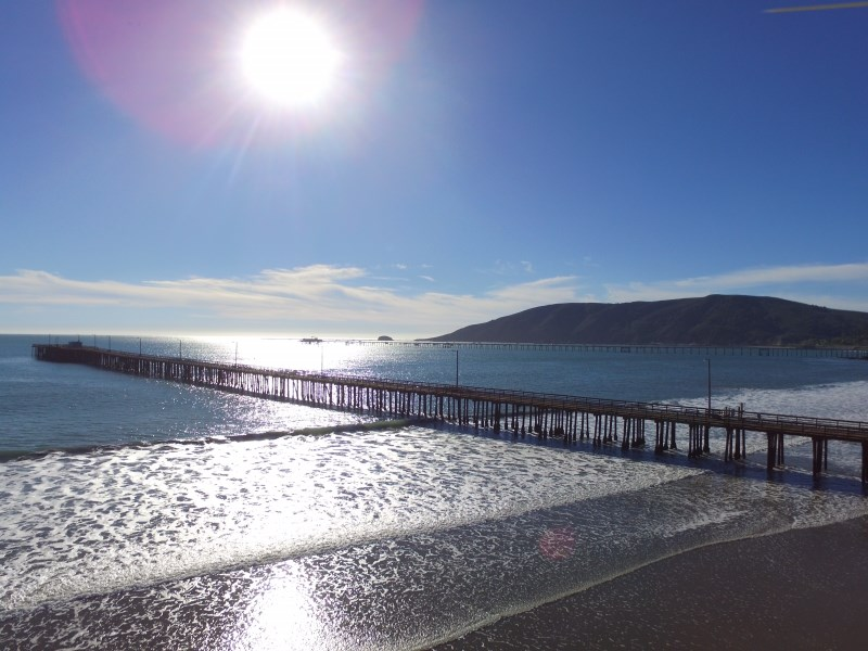 Blue skies at Avila Pier. Photo by Reeve Briscoe.