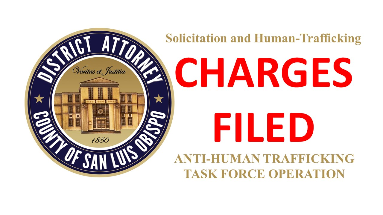 Criminal Charges Filed by District Attorney after Anti-Human Trafficking Operation