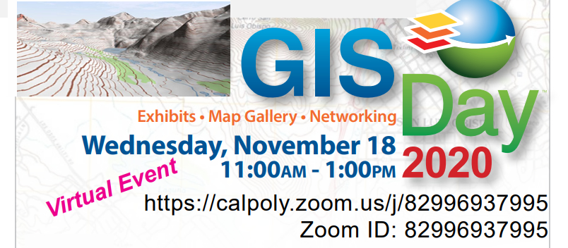 GIS Day - Exhibits - Map Gallery - Networking - Wednesday Nov 18 2020 - Virtual Event