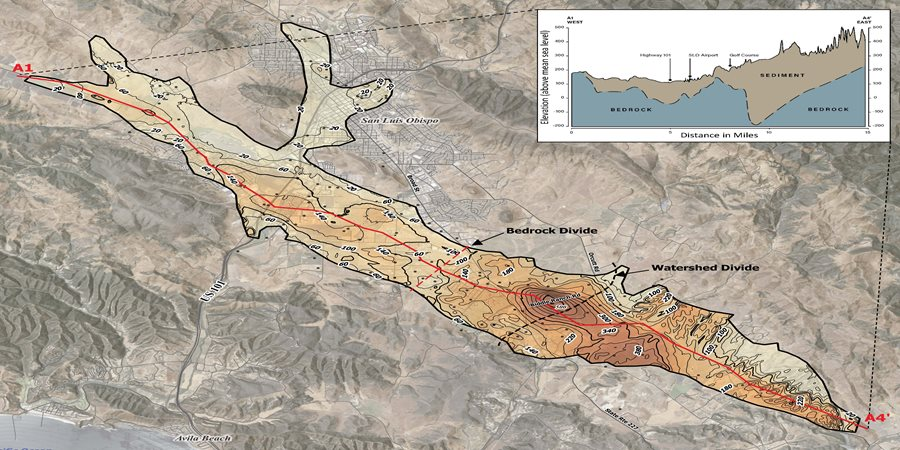 San Luis Obispo Basin Groundwater Sustainability Planning map